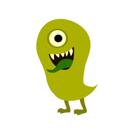 Cartoon monsters set. Colorful toy cute monster. Graphic illustration Stock Photo