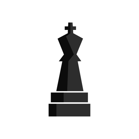 Chess play figure for app game or web UI design. Black icon Graphic illustration