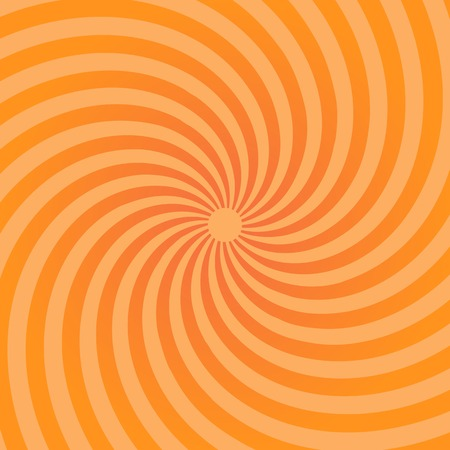 Sunburst pattern. Abstract radial bright sun burst background. Orange center sunlight gradient design. Graphic illustration sunbeam