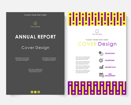 Black square annual report cover design template vector. Brochure concept presentation website portfolio. White layout leaflet template. Magazine business advertising set. Poster A4 illustration