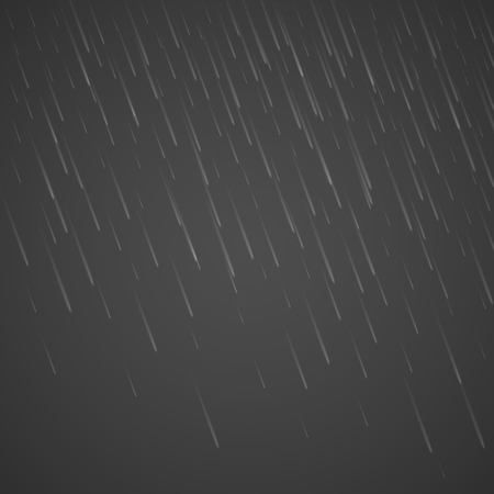 Transparent anglewise rain drops isolated on abstract background. Storm raindrop illustration. Vector rainy drop effect eps10