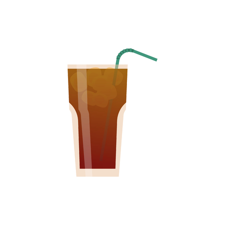 Alcoholic cocktails isolated on black background. Cocktail drink. Vector