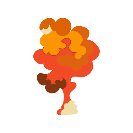 Cartoon explosion effect set. Explode flash, effect boom, bomb comic, mushroom fire. Vector. Illustration