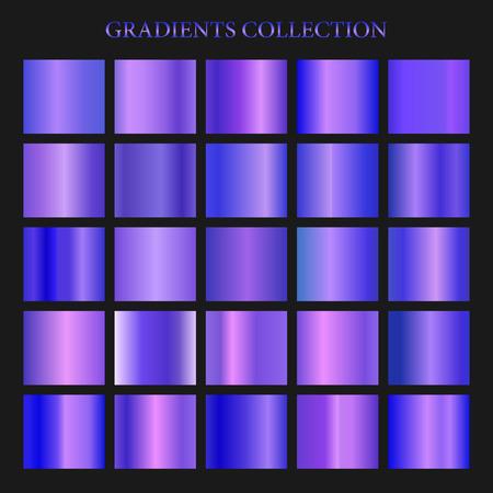 Violet gradient collection for fashion design. Vector illustration Stock Illustratie