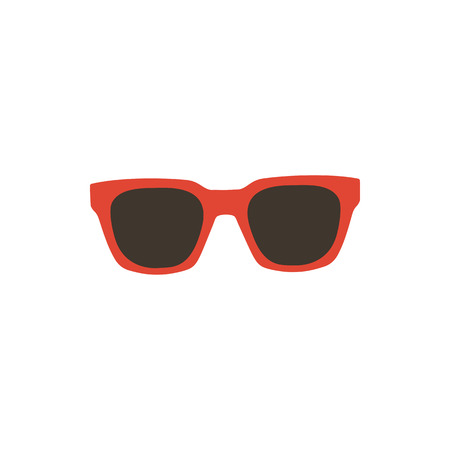 Retro glasses. Sunglasses black silhouettes. Eye glasses icon. Vector illustration.