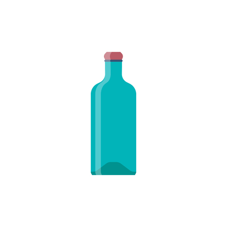 Bottle glass flat design. Vector illustration eps10