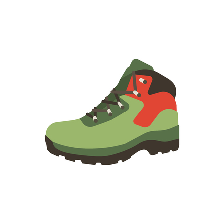 Hiking boot icon in flat style isolated on white background. Shoes mountain symbol stock. Vector footwear illustration