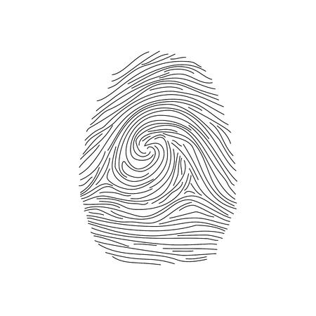 Set of fingerprints icons, id security identity. Vector illustration Illustration
