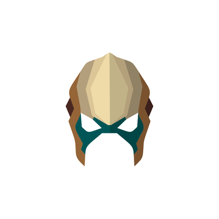 Set of super hero masks in flat style. Big collection cartoon superhero. Vector