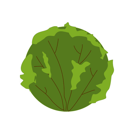 Green herbal plant isolated on white. Bush with brown branches, app game UI or web element icon. Vector illustration eps10