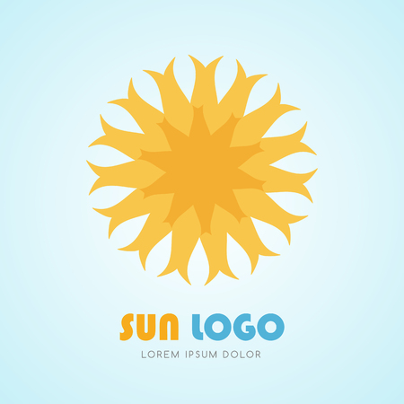 Sun icon set, vector illustration Illustration