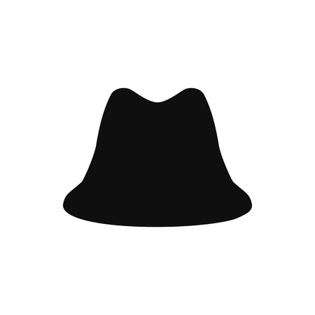 Retro hat silhouette. Top hat isolated on white. Vector illustration eps10