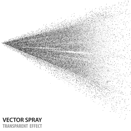 Tansparent water spray cosmetic, white fog spray isolated on background. Vector spray effect eps10