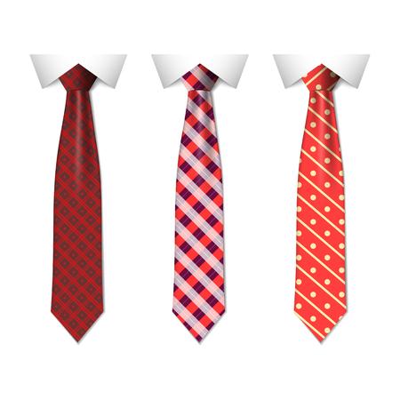 Establecer diferentes lazos azules aislados sobre fondo blanco. Corbata de color para hombre. Vector ilustración simple eps10 Ilustración de vector