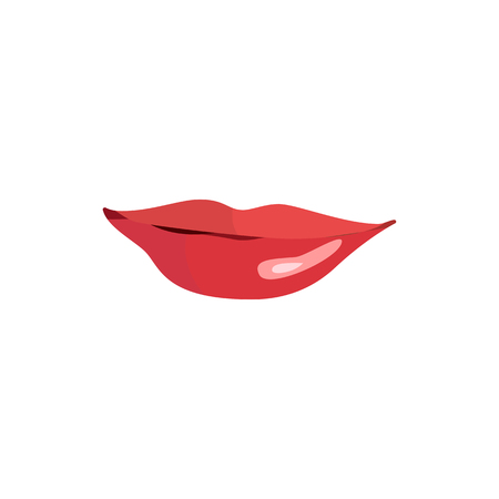 Lips set. Lip design element. Vector illustration