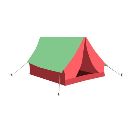Set of tourist tents. Collection of camping tent icons. Vector illustration eps10 Illustration