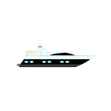 Motor boat icon isolated on white. Vector illustration