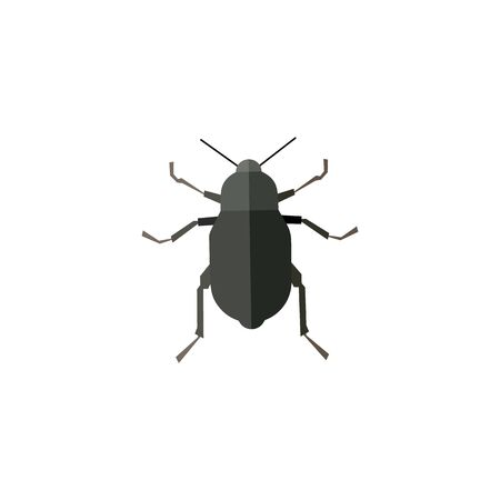 Insect icon in flat style isolated on white background. Vector illustration Foto de archivo - 129794551