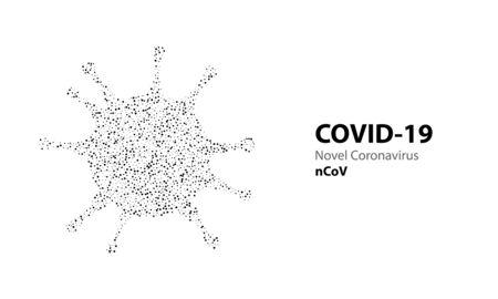 Corona virus 3d polygonal text COVID-19. Virus infections epidemic banner on blue background. Vector healthcare coronavirus illustration