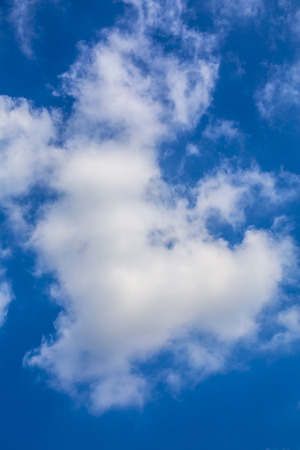 Cloud in the blue sky with rich toned color and selective focus Stock Photo