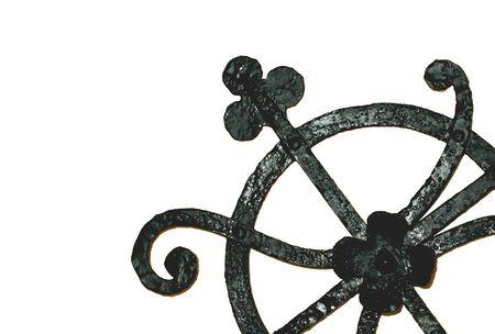 detai: wrought iron detai Stock Photo