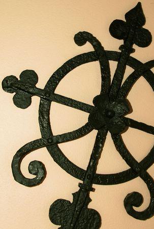 wrought iron detail Archivio Fotografico