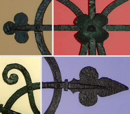 bolted: wrought iron detail composite