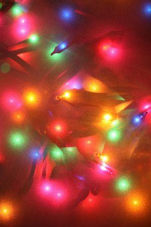 festive lights thru frosted glass, not an effect