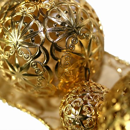 filagree: christmas ornaments and ribbon