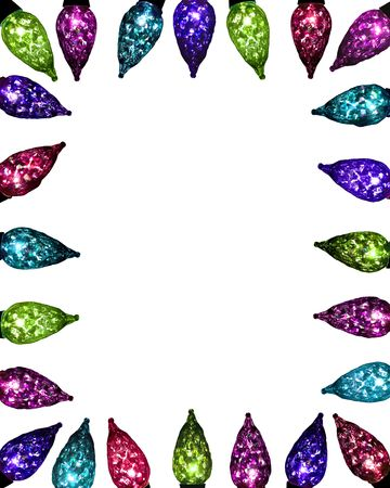 festive facet lights - jewel tones