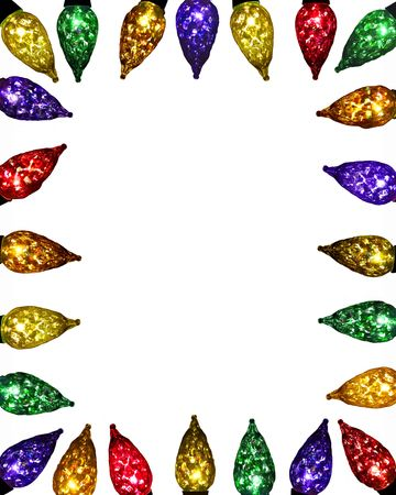 colorful lights: festive facet lights - mixed brights