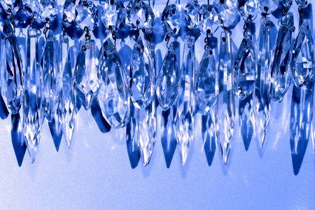 vintage crystal chandelier prisms as decorative garland Stock Photo - 608857