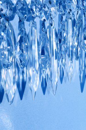 vintage crystal chandelier prisms as decorative garland