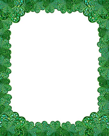 jewel shamrock border background Stock Photo - 770045