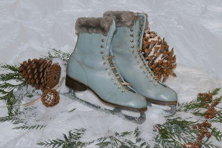 """jack frost: cosecha de hielo en patines """"nieve"""" con jack de las heladas de hielo patr�n  Foto de archivo"""