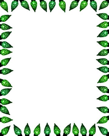 facet: festive facet light border frame background in shades of green