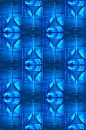 jack frost: papel tapiz azul cool: vaso de martini y con bloques de vidrio de cristal toma patrones de las heladas