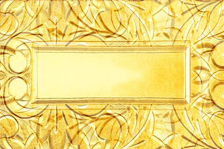 yellow  ochre: background based on antique silver design with monogram plate