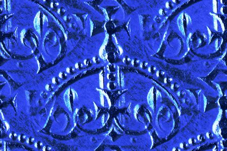 crown detail from British shilling coin as pattern repeat Stock Photo