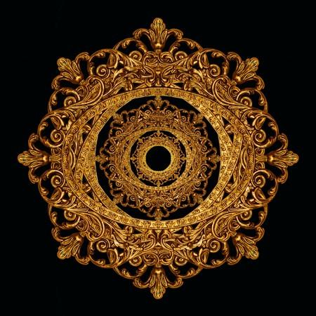 ornate frame as decorative star, medallion or other design element