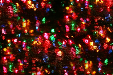 clustered: festive mini lights beneath rippled glass, not an effect