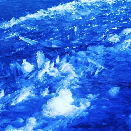 floating ice shards background photo
