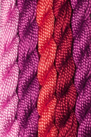 bright skeins of embroidery yarn photo