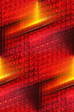 casing: car tail light casing abstract