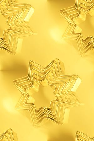 cutter: star-filled holiday cookie cutter abstract