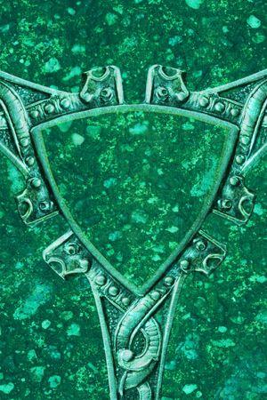 celtic shield: antique silver design as shield, background photo
