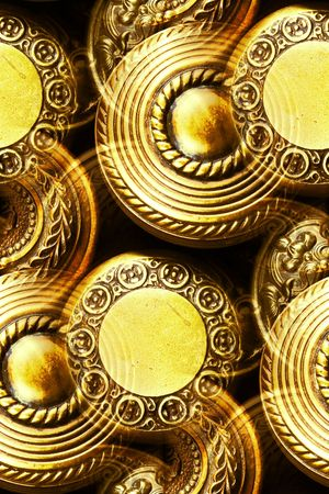 vintage brass door knobs Stock Photo - 6526962