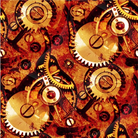 grunge clockwork parts abstract