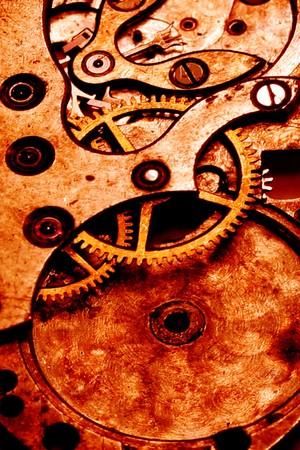 grunge clockwork gears abstract Stockfoto