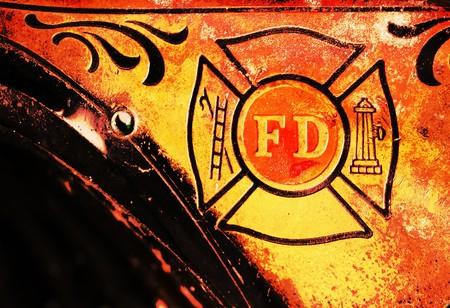 Vintage brandweer man helm